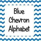 Blue Chevron Alphabet (large) These are perfect for word walls!...