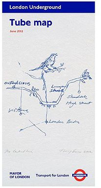 The full Tracey Emin Tube map cover