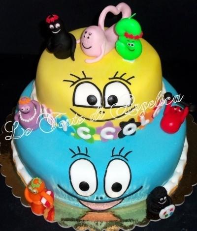 Barbapapa cake By aaangy on CakeCentral.com