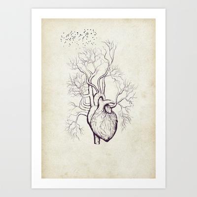 Treeheart Art Print by Robin - $12.48
