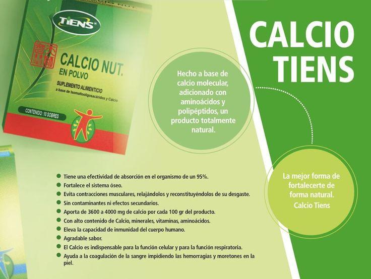 Polvo nutritivo con Calcio, Natural y con una absorcion del 95%. No tiene efectos secundarios.