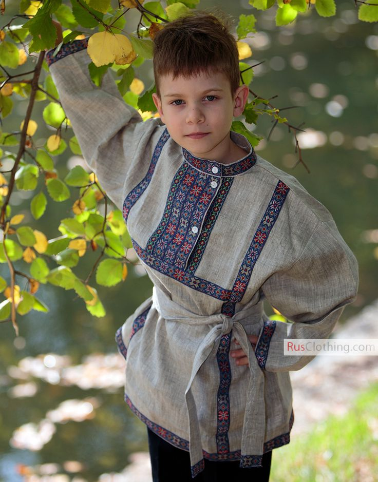 Russian linen kosovorotka shirt