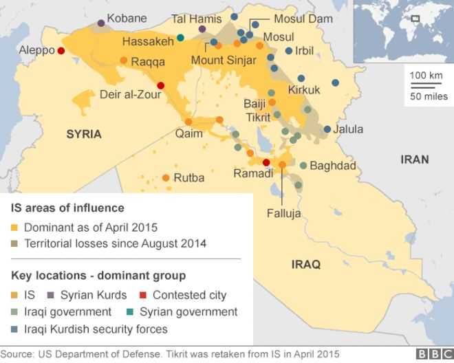 Battle for Iraq and Syria in maps - BBC News