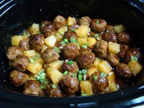 Teriyaki Meatballs with Pineapple ~ good recipes