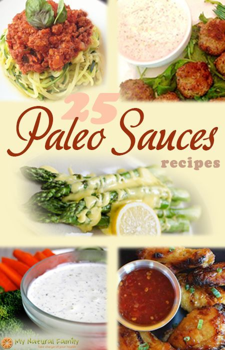 Paleo Sauces Recipes--this has a ranch dressing that look legit!