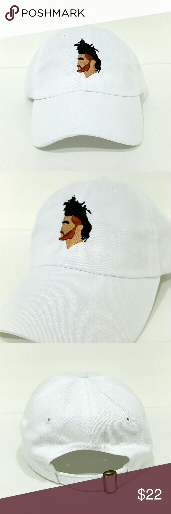 The Weeknd Hat $$******READ DESCRIPTION*****$$   *New adjustable hat   *If posted still available   *I ship next day if purchased before 5 PM on Sunday and 7.30 PM every other day, if purchased after hours it will be shipped the day after tomorrow   *Shipping takes about 5 days please don't rate based off shipping speeding i don't control USPS   *Trusted seller buy with confidence. Accessories Hats