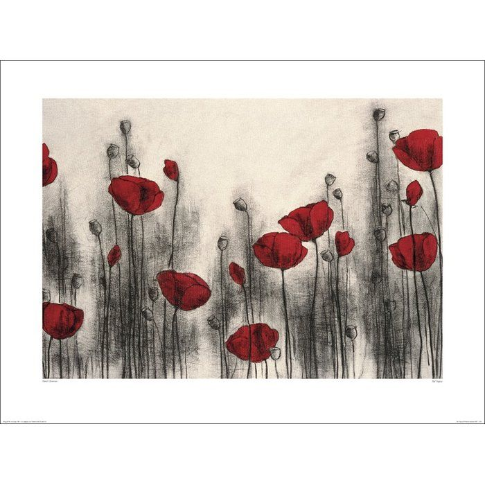 Red Poppies by Hans Andkjaer Art Print