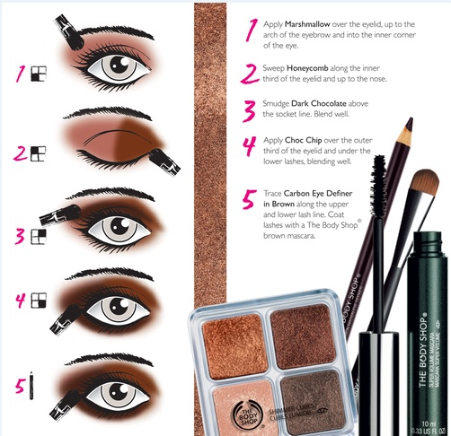 Chocolate Makeup: The Body Shop. Gotta try this!