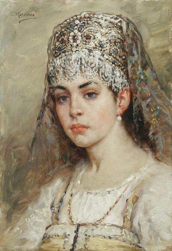 Russian beauty, Konstantin Makovsky painting 9