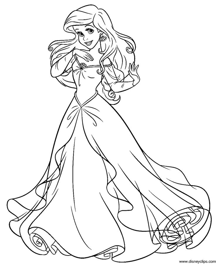 Ariel coloring page (With images) | Ariel coloring pages ...