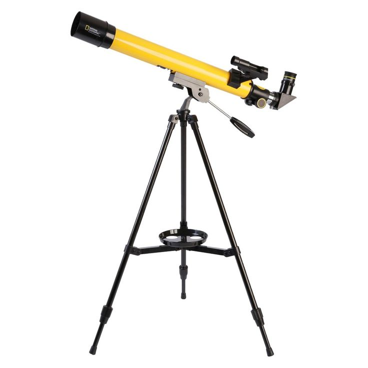 National Geographic Refracting Telescope - Yellow/ Black (50mm), Yellow/Black