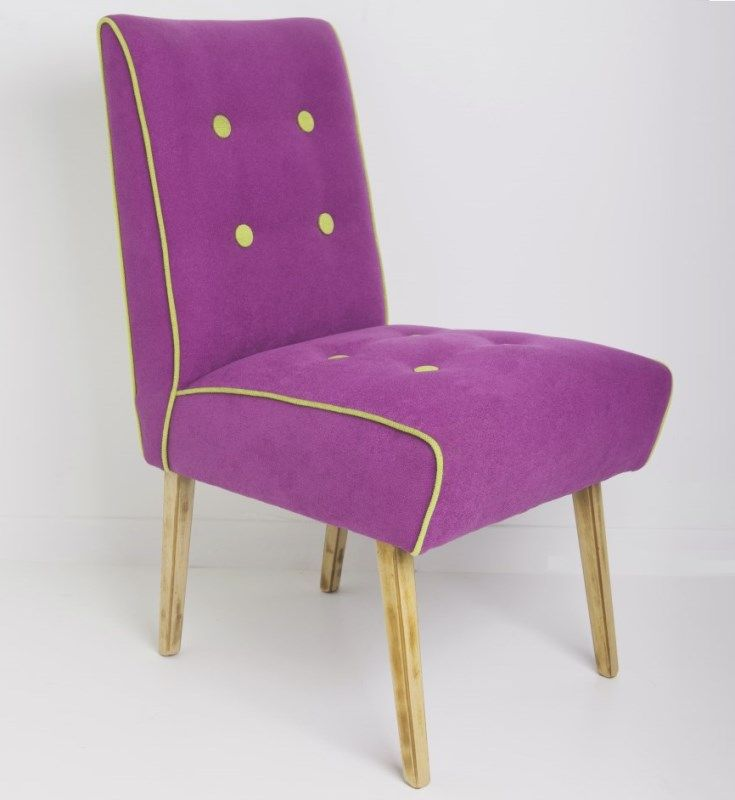 Picture of Purple Feature Chair COMPLETELY UNIQUE ONLY ONE from Chair Revival Unique Melbourne Feature Furniture