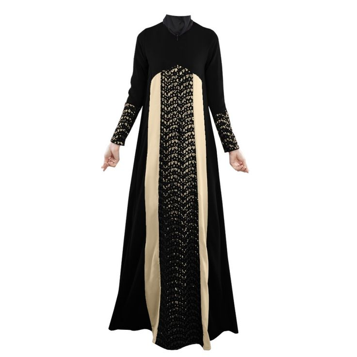 Vintage Women Kaftan Abaya Jilbab Islamic Muslim Long Sleeve Maxi Dress