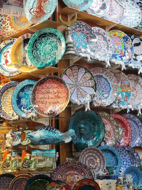 Istanbul market plate display