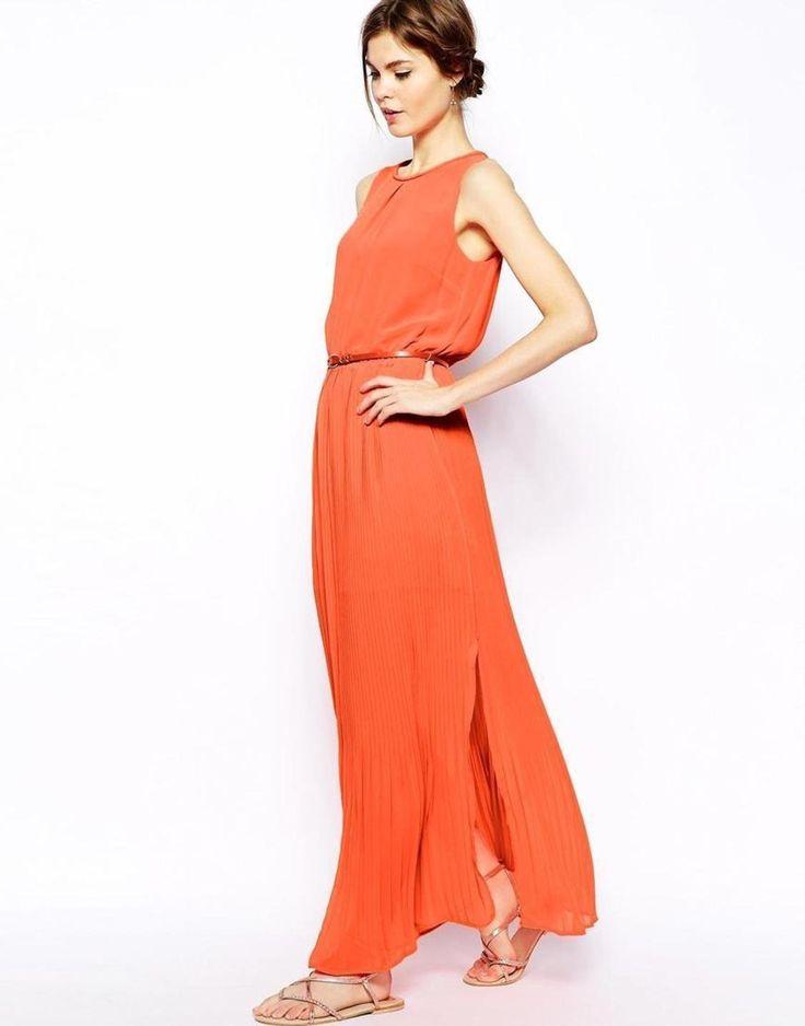 orange-pleat-maxi-dress-