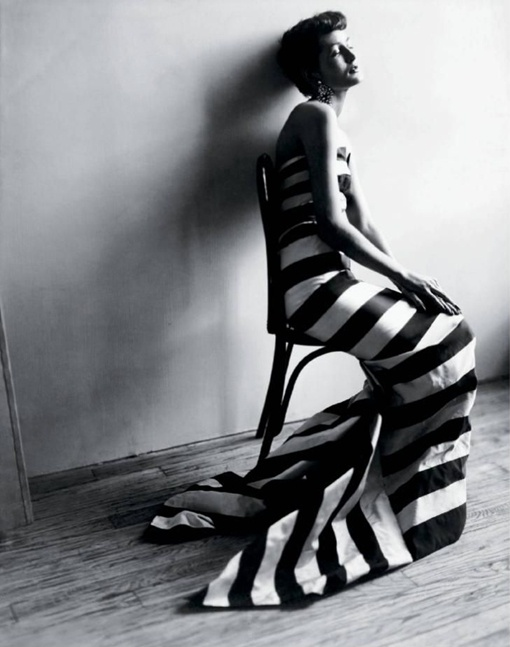 As if I had any use for a floor-length striped ballgown, but whatever. I want it. Photo by Cecil Beaton