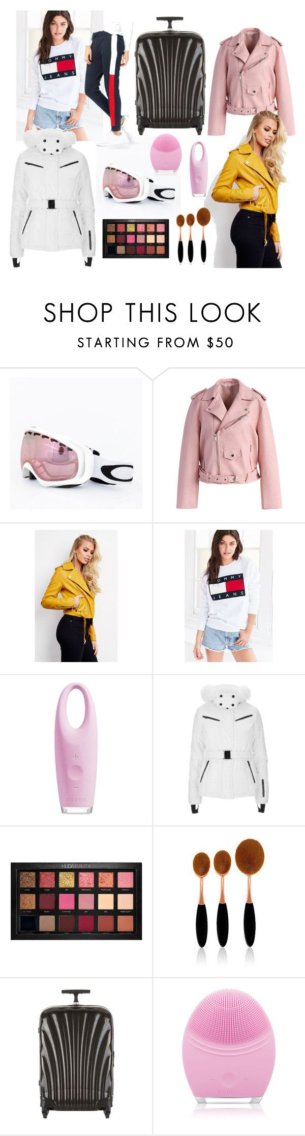 Cravings by saijis on Polyvore featuring Tommy Hilfiger, Topshop, Chicwish, Samsonite, Huda Beauty and FOREO