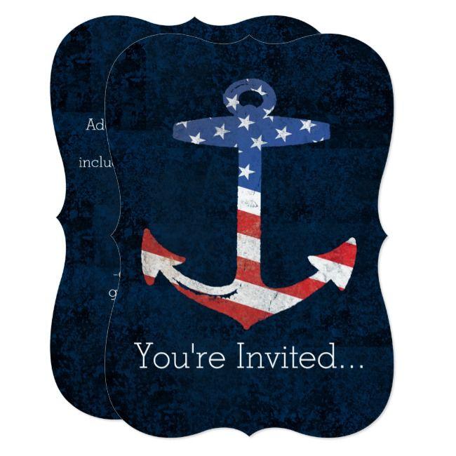 Create Your Own Invitation Zazzle Com American Flag Patriotic Create Your Own Invitations