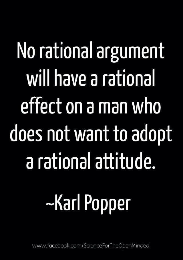 Karl Popper - Good point