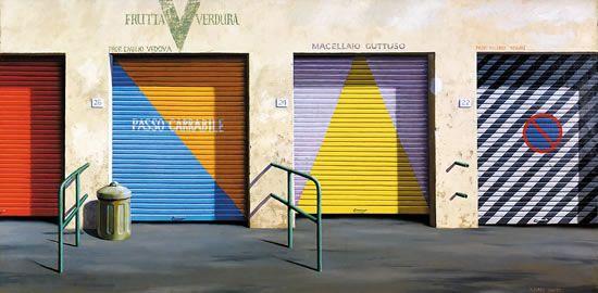 Four Closed Shops - Jeffery Smart Australian artist