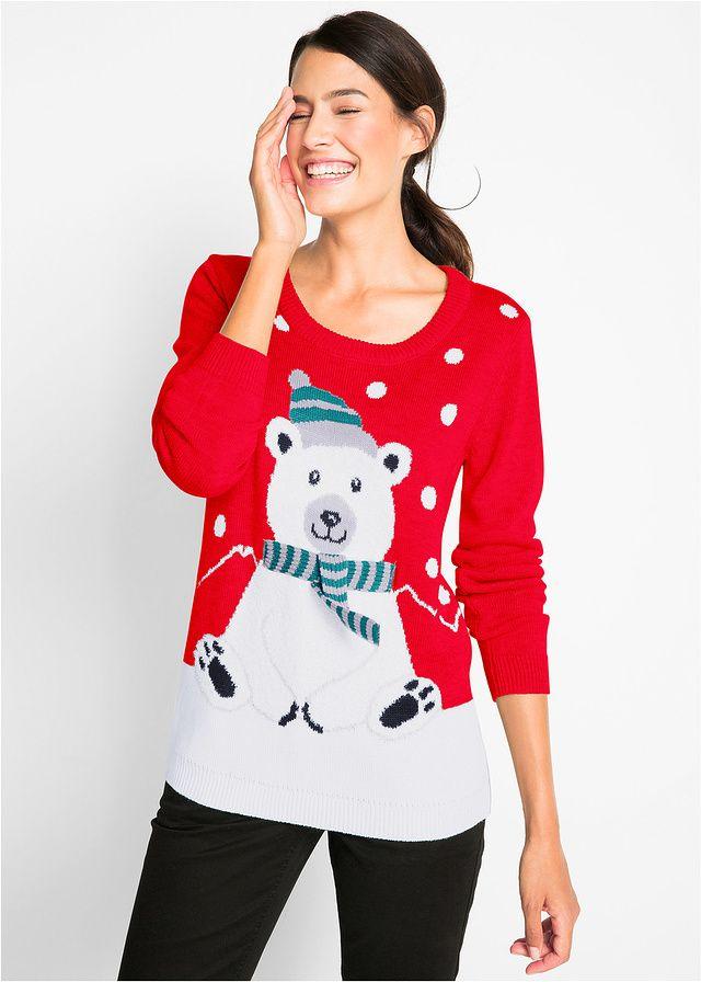 Sweter z okrągłym dekoltem Całkowita dł • 89.99 zł • bonprix