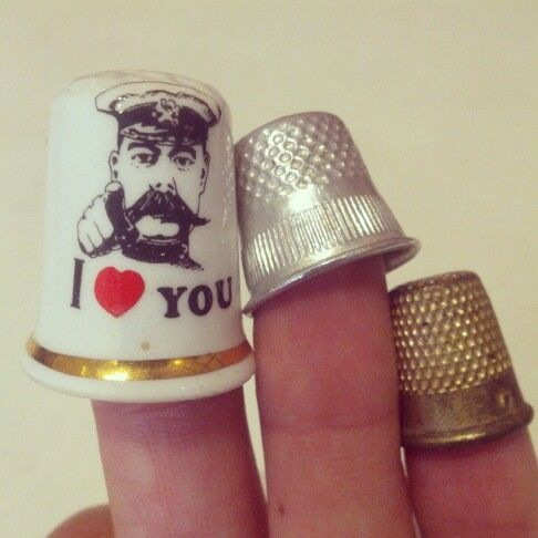 #vintage #ceramic and #metal #thimbles $5 each #iloveyou #iheartyou #i<3you #love #loveheart #heart #fingerprotection #foryourfinger #protection #sewing #sew #needle #prick #hats #quirky