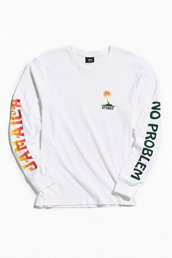 2cf4ea3cf Stussy Jamaica No Problem Long Sleeve Tee | Clothes | Long sleeve ...