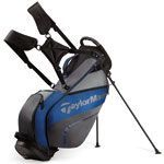 TaylorMade 2016 Pro Stand Golf Bag 4.0 - Black/Grey/Blue: Product Description #OnlineGolfShop #DiscountGolf