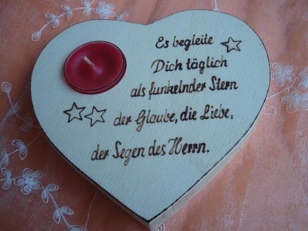 Herz Mit Spruch Als Geschenk Für Kommunion