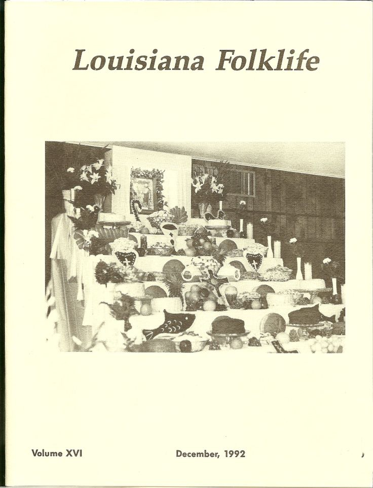 """LFJ, Vol. 16, Dec. 1992 Richmond, Sheila. """"The Evolution of the St. Joseph Altar in Rayne, Powhattan, and DeRidder,Louisiana"""" """"Theatre Folklore"""" """"Children's Songs of the church of Christ"""" """"Ghost Stories From Webster Parish, Louisiana"""" """"Crop Dusting Folklore in Central Louisiana"""". """"Pregnancy Folklore"""" Zimmerman, Thomas. """"The Performance and Function of 'Touchy' Folklore"""" """"Folk Cures in the Ebarb Commuunity of Louisiana"""" Bryant, Mark. """"Roustabouts: The Forgotten Men of the Oilfield"""""""