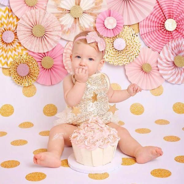 Gold Sequin and Lace Romper, perfect for photos and birthdays!