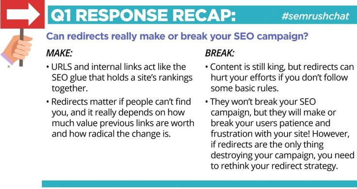 Answers to Your Top Questions About Redirects #semrushchat