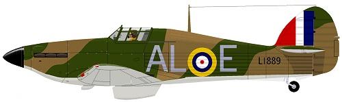 A Hawker Hurricane Mk 1 in 79 Squadron markings