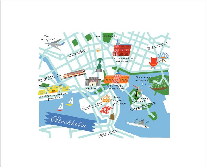 Map Stockholm by Lena Corwin
