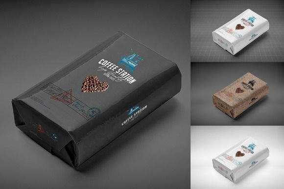 Coffee Bag Mock-Up by alexvisual on @creativemarket