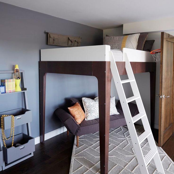 die besten 25 hochbett f r erwachsene ideen auf pinterest kleines dachbodenschlafzimmer. Black Bedroom Furniture Sets. Home Design Ideas