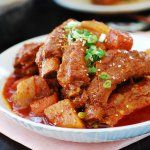 Slow Cooker Pork Ribs (Maeun Dwaeji Galbijjim) - Korean Bapsang