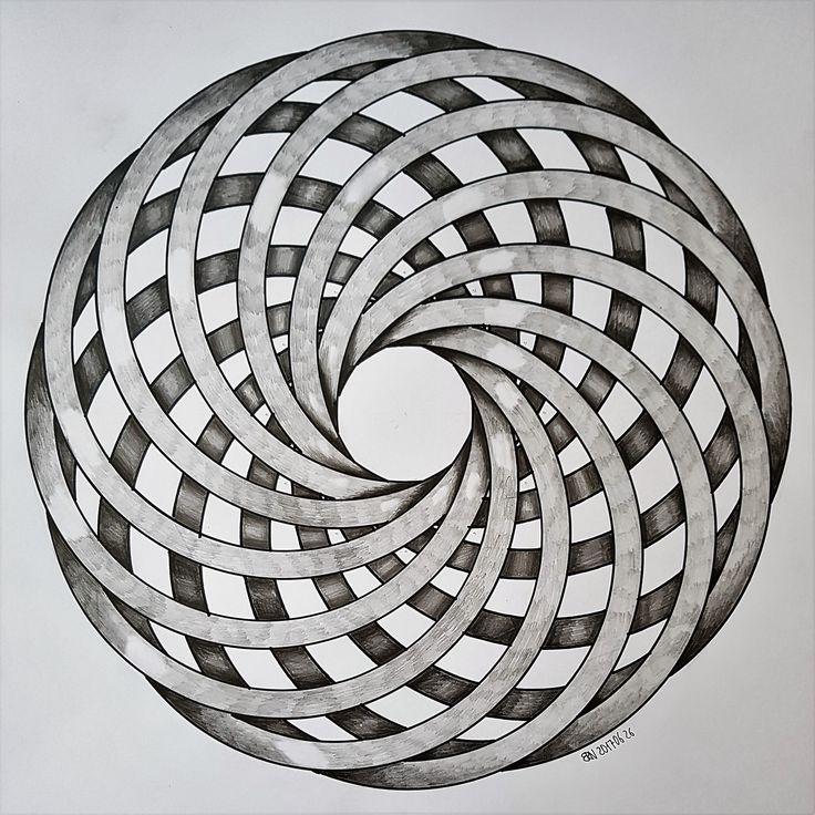 #torus #geometry #symmetry #pattern #handmade #mathart #regolo54 #disk #circle #vortice #torso #evolution #progression