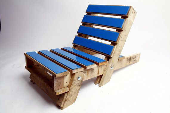 Folding Timber Chair with Coloured Acrylic by GasandAirStudios