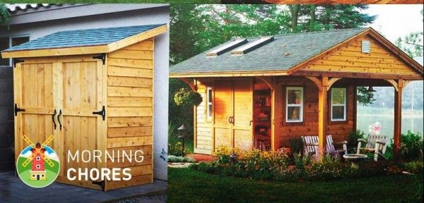108 Free DIY Storage Shed Plans And Ideas That Are Easy To Build - http://www.survivorninja.com/108-free-diy-storage-shed-plans-and-ideas-that-are-easy-to-build/
