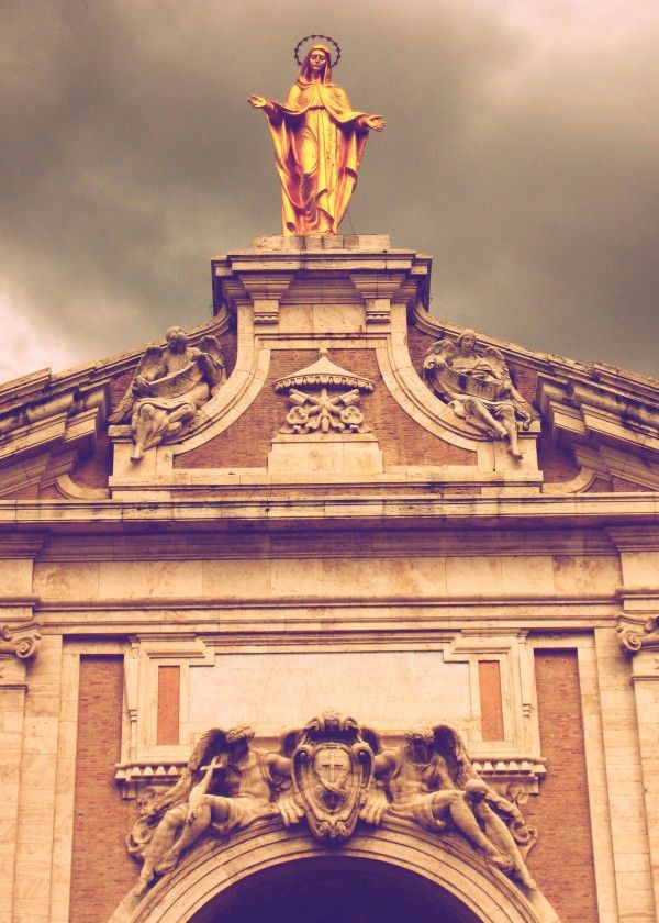 Love  Santa Maria degli Angeli Photography by Scar Design  #Assisi #Italy #travel #madonna #saintmary #religious #statue #photography #poster #art #sightseeing #scardesign #Italian #traveltoitaly #displate #metalposter