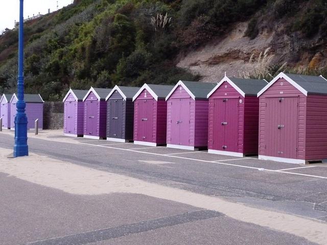 pantone beach huts Bournemouth by annaglasbrook, via Flickr