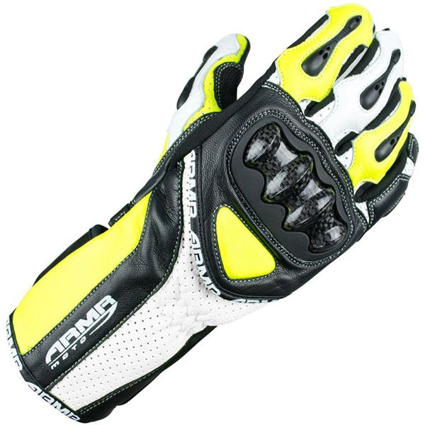 Armr Moto S460 Leather Motorcycle Gloves Neon - http://playwellbikers.co.uk/gloves/armr-moto-s460-leather-motorcycle-gloves-neon/