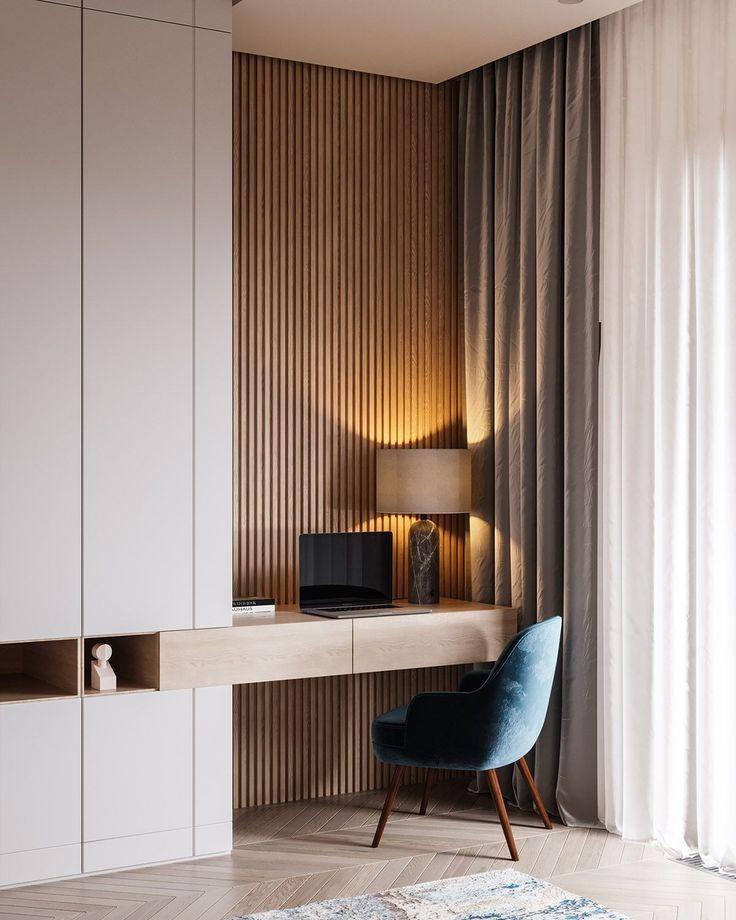 Drawing Designs – Dans un recoin de la chambre, le bureau trouve sa place facilement