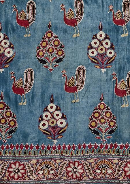 Skirt cloth, silk embroidered with silk thread, Kutch, Gujurat, circa 1880