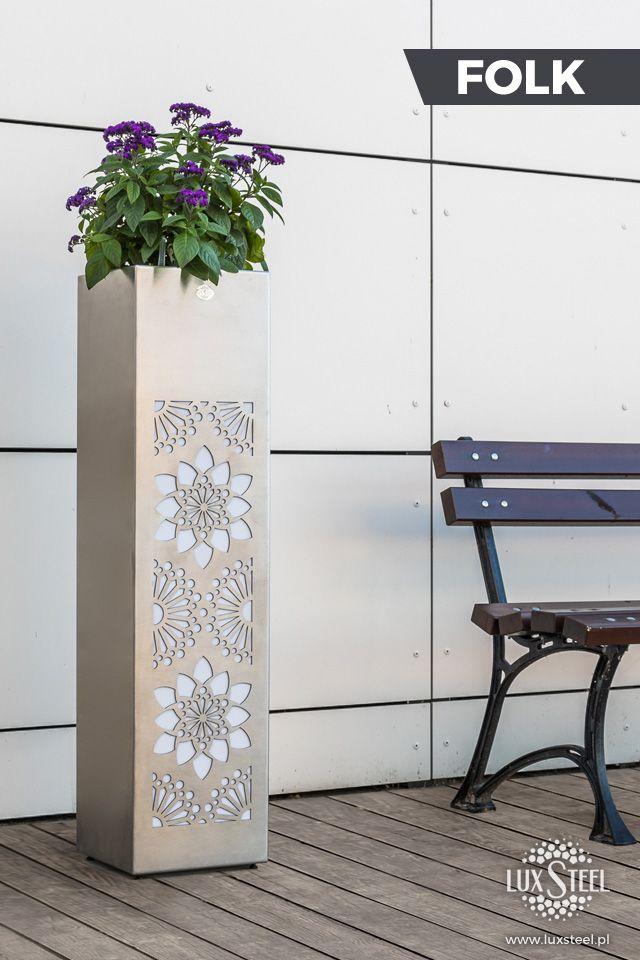 Steel planter box - Folk series