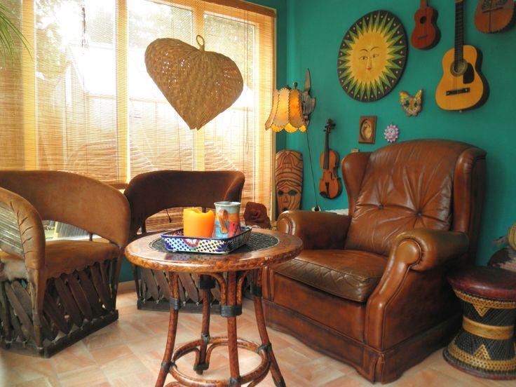 Door de verschillende veranda's, de tuinkamer en de blokhut, kunnen wij het hele jaar genieten van onze Mexicaanse tuin.