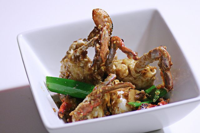 chinese ginger and scallion crab
