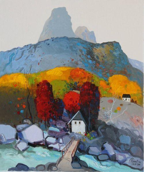 by Albanian painter Pashk Përvathi