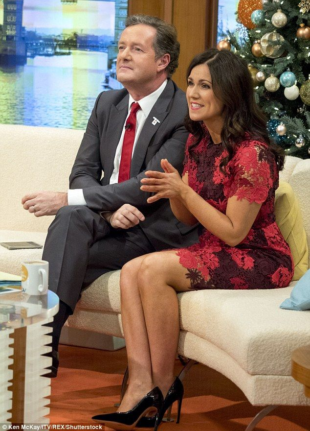 Getting on famously: The GMB presenters continued to demonstrate their on-screen chemistry...